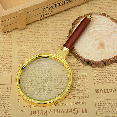 Practical 60mm/80mm/90mm 10X Magnifier Magnifying Glass Loupe Reading Jewelry AU