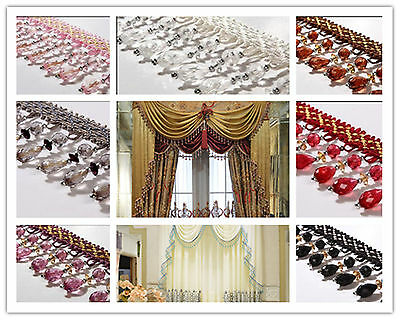 1m New Curtain Sewing Tassel Fringe Fabric Trim Tassel Crystal  Lace Accessory