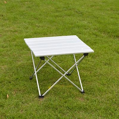 White Folding ABS Aluminium Picnic Table Portable Camping Outdoor Garden Beach