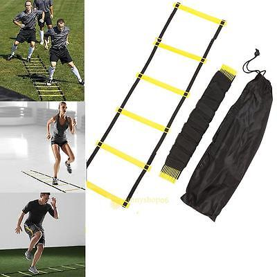 Durable 5 rung 10 Feet 3M Agility Ladder For Soccer Speed Training Fitness Boxin