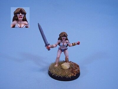 Ral Partha painted miniature cute armed Slave