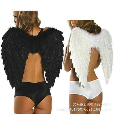 Three Colors Fancy Feather Wings Beautiful Custome Décor Sexy Devil Fallen Angel