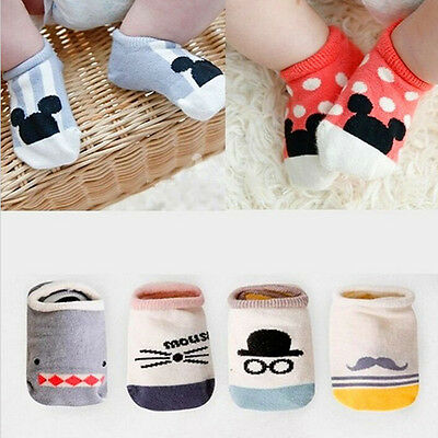 1 Pairs Baby Boy Girl Cartoon Cotton Socks NewBorn Toddler Kids Soft Sock New EW