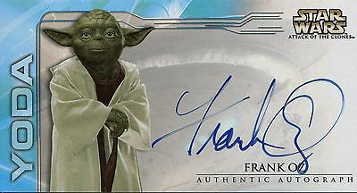 Star Wars Attack Of The Clones Widevision Autograph Frank Oz