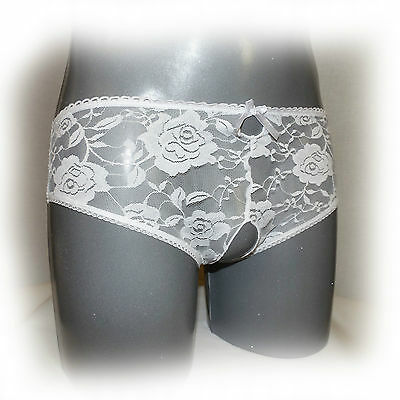 Sexy Crotchless Open Crotch Lace Thongs Ouvert 4XL (973)