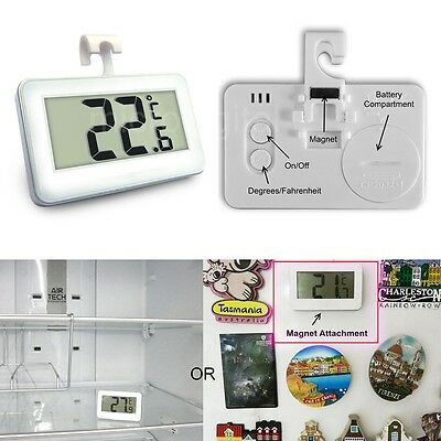 Wireless Digital Thermometer With Magnet Hook for Refrigerator Freezer Fridge LL