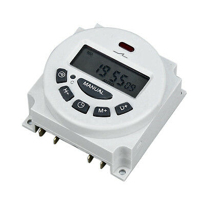 16A Microcomputer LCD Digital Programmable Electronic Relay  Switch Time Timer