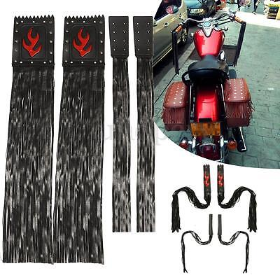Motorcycle Synthetic Leather Fringe Tassel Grips Lever Cover For Cruiser Harley