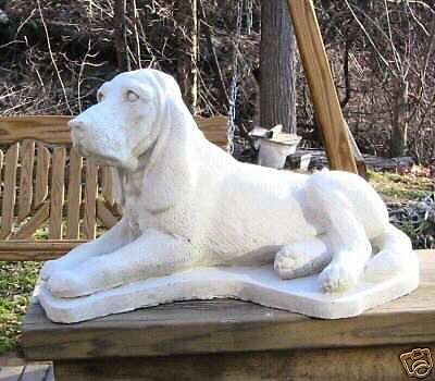 Concrete Bloodhound 0R ,coonhound Dog Statue Or Use As Memorial, Grave Marker