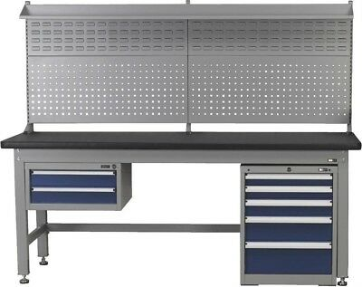 Sealey 2.1m Complete Industrial Workstation and Cabinet Combo API2100COMB02