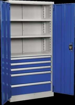 Sealey Industrial Cabinet 5 Drawer 3 Shelf 1800mm APICCOMBO5