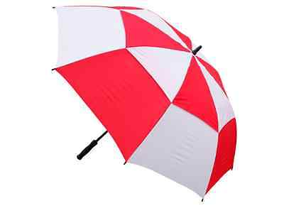 New Masters TourDri red & white golf umbrella - gust resistant - auto opening