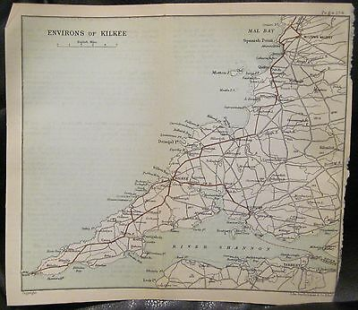 Irish Map ENVIRONS OF KILKEE Clare Miltown Malbay Ireland J Bartholomew 1891 6x7