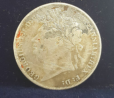 1825 George Iv Laureate Head Shilling Coin - Nice