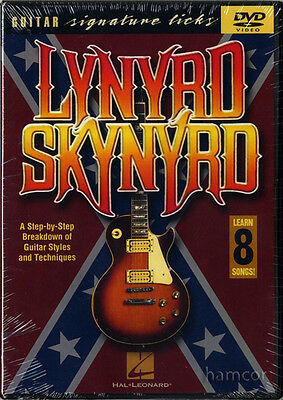 Lynyrd Skynyrd Guitar Signature Licks Learn How to Play Tuition DVD NEW SEALED