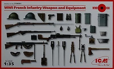 ICM 35681 WWI French Infantry Weapon & Equipment in 1:35
