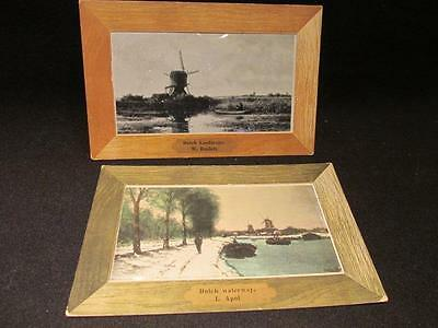 Dutch Landscape W Roelofs & Dutch Waterway L Apol 2 Vintage Art Like Postcards