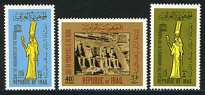 Iraq 409-411, MNH. UNESCO campaign to save historic monuments in Nibia, 1966