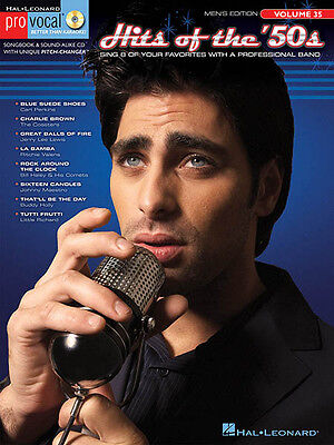 Hits of the 50s Pro Vocal Men Vol 35 Rock Songs Sing-Along Music Book CD NEW