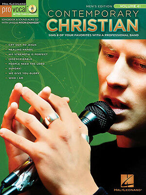 Contemporary Christian Men Vol 41 Sheet Music Songs Sing-Along Book CD Pack NEW