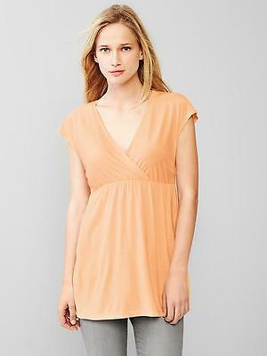 NWT Gap Maternity Modal Crossover Nursing Tee Top Peach Cream U PICK Size NEW