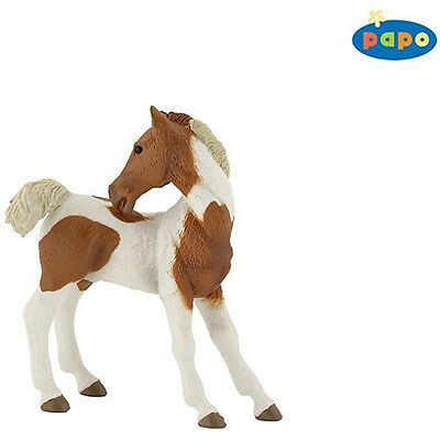 NEW PAPO 51096 Pinto Foal - Horse Equine Model - RETIRED