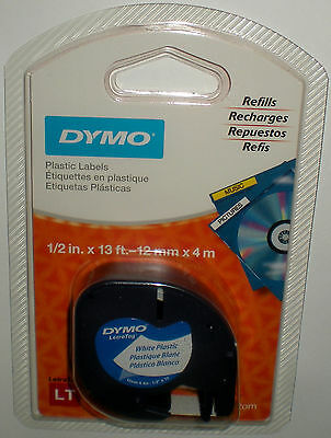 Dymo Letratag Labeling Tape For Letratag Label Makers Black Print White Plastic