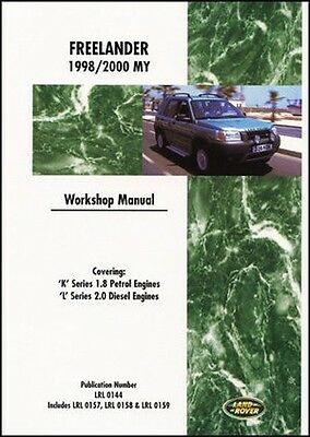 Land Rover Freelander Ufficiale Manuale Officina 1998-2000 Benzina Diesel LRF1WH