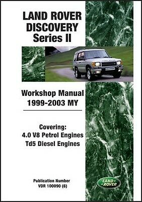 Land Rover Discovery Serie 2 1999-2003 Ufficiale Manuale Officina LRY2WH