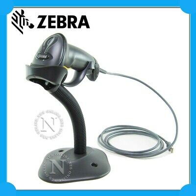 Zebra LS2208 Handheld Wired Barcode Scanner Kit with Stand+USB Cable *BLACK*