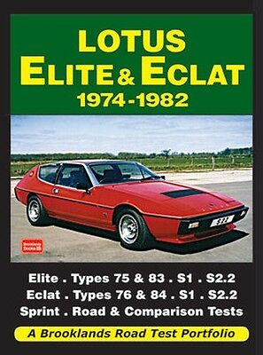 Lotus Elite & Eclat Buyer's Guide Reviews Road Test Portfolio 1974-82 LTEERP NEW