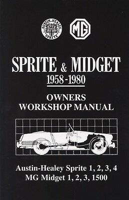 MG Midget Sprite Official Owners Workshop Manual 1958-1980 MG58GBWH NEW