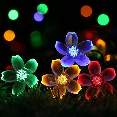 5m 50LED Solar String Light Outdoor Waterproof Garden Yard Xmas Decor Fairy Lamp