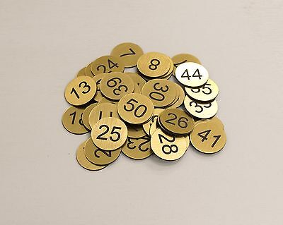Set of 50x3cm Laser Engraved Number Discs, Tags, Locker, Restaurant,Clubs Office