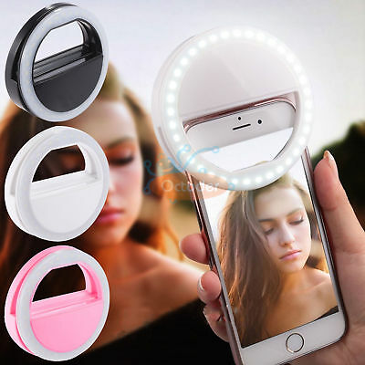 Selfie Ring Fill Light Up Flash Camera Luminous LED for Samsung S8 iPhone 7 Plus