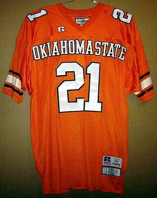 OKLAHOMA STATE COWBOYS BARRY SANDERS (Detroit Lions) FOOTBALL JERSEY