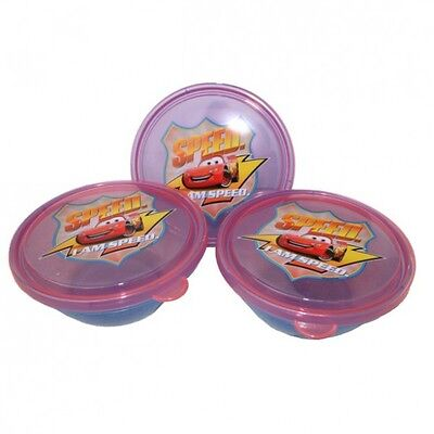 Disney Cars - Set of Cans - Snack Boxes - Round (3 pcs)