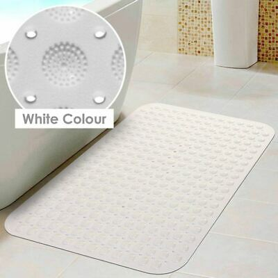 WHITE High Quality Large Suction Anti Non Slip Bath Shower Mat Foot Massage UK