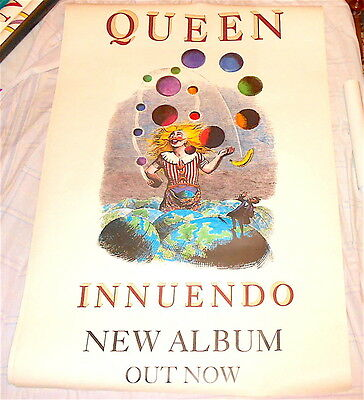 QUEEN - INNUENDO 1991 EMI Uk billboard giant promo poster Album Grandville ill.