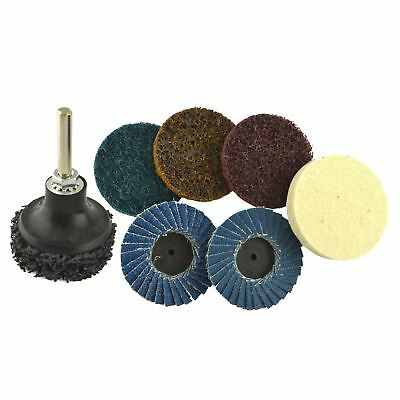 """9pc Sanding & Prepping 2"""" Pads Buffer Buffing Stripping Flap Discs Rotary TE880"""