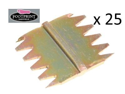 "25 x Footprint Tools Scutch Chisel Combs 25mm 1"" Wide Bulk Pack Sheffield UK"