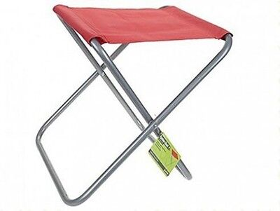 Summit Folding Outdoor Stool Chair Seat Red | Camping Fishing Travel Picnic