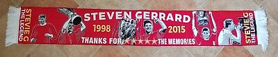 Liverpool Steven Gerrard Scarf - Thanks For The Memories - Great Gift Idea