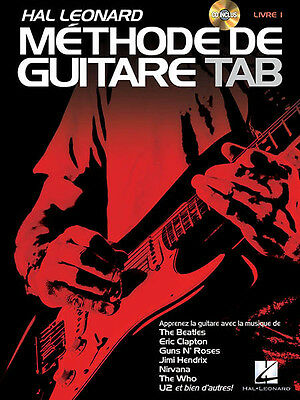 Hal Leonard Methode de Guitare Tab French Edition Guitar Lessons Book CD NEW