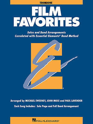 Film Favorites for Trombone Essential Elements Band Method Sheet Music Book NEW