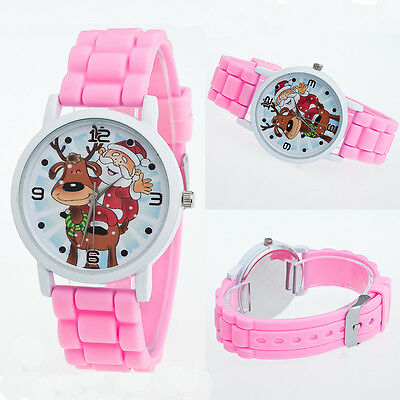 New Fashion Lovely Boys Girls Christmas Silicone Jelly Gift Quartz Wrist Watch