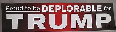 WHOLESALE LOT OF 20 PROUD TO BE DEPLORABLE FOR TRUMP BUMPER STICKERS red '16 USA