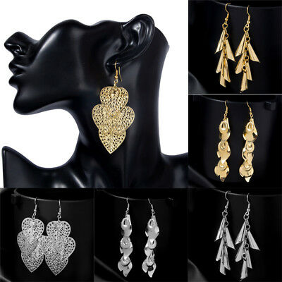 New Style 18K Gold Silver Plated Hollow Filigree Ear Drop Dangle Hook Earrings