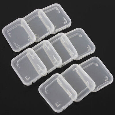 10pcs Micro SD SDHC TF Memory Card Storage Box Protector Holder Hard Case