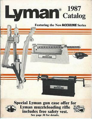 Gun Products Catalog - Lyman - 1987 - Handloading Die Mould Acculine (SP08) - S
